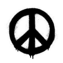 Peace Symbol Vector Icon. Spra...