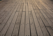 Old Wooden Deck Background. Cl...