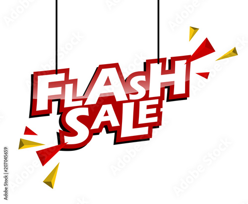 Obraz red and yellow tag flash sale - fototapety do salonu