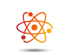 Atom Sign Icon. Atom Part Symb...