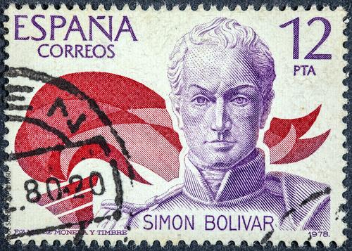 Cuadros en Lienzo portrait of Simon Bolivar