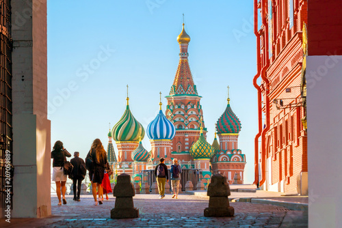 Poster Moscow St. Basil's Cathedral at Red Square in Moscow
