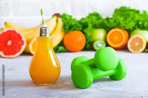Concept healthy eating diet plan detox drinks sports nutrition ideas © innalimanskaya