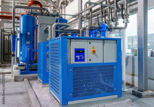 Fototapeta Refrigerated air dryer Ultrafilter for compressor air obraz