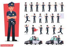 Police Character Vector Design...