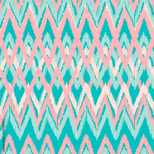 Photo sur Aluminium Style Boho Abstract Ikat and boho style handcraft fabric pattern. Traditional Ethnic design for clothing and textile background, carpet or wallpaper