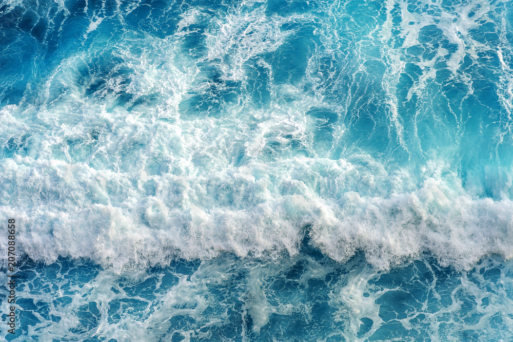 Fototapety, obrazy: Aerial view of the ocean wave.