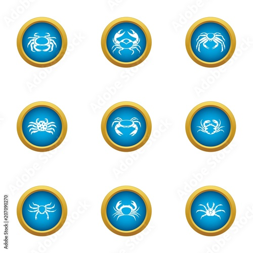 Arthropoda icons set Canvas-taulu