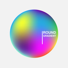 Gradient Orbs Isolated On Whit...