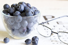 Bilberry Cure For Eyes Concept...
