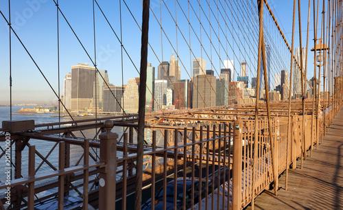 Foto op Plexiglas New York City New York, Brooklyn bridge, United Statef of America