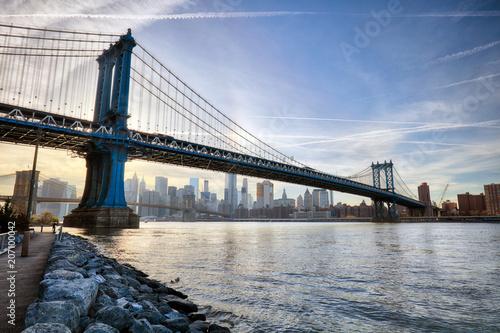 Foto op Plexiglas New York City Manhattan Bridge, New York