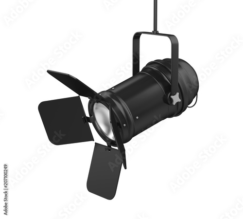 Foto op Canvas Licht, schaduw Stage Light Isolated
