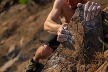Rock Climbing Abstract, Hand A...