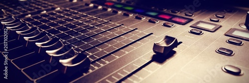 Sound mixer in studio Canvas-taulu