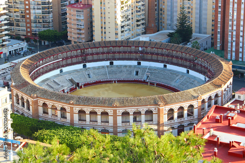 Poster Artistique Aerial view of Malagueta bullring, Malaga, Spain