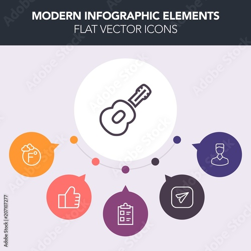 Modern, simple, colorful vector infographic background with