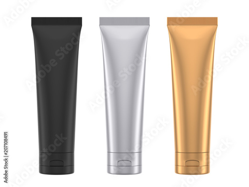 Fotografia  Tube Mock-Up isolated on white background,3D rendering
