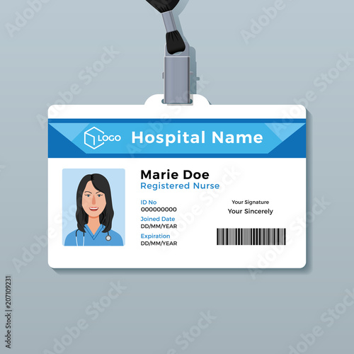 Nurse ID Card Medical Identity Badge Template