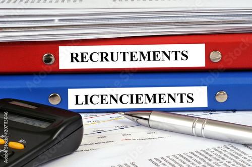 Dossiers recrutements et licencements Canvas Print
