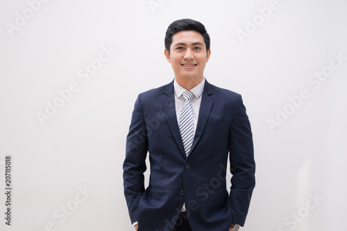 Fotografie, Obraz  young business man portrait isolated on white