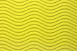 canvas print picture - Yellow Paper Horizontal Waves Texture. Embossed Waves on Detailed Paper Background. Corrugated Wavy Cardboard Backdrop.