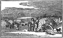 Eskimo Village From The Snow Huts (from Das Heller-Magazin, January 25, 1834)