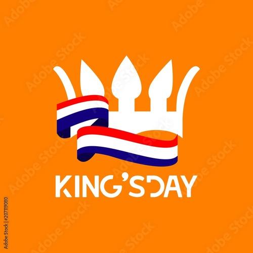 King's Day Vector Template Design Illustration Wallpaper Mural