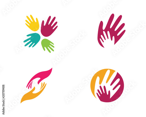 Fotografia Hand Care Logo Template vector