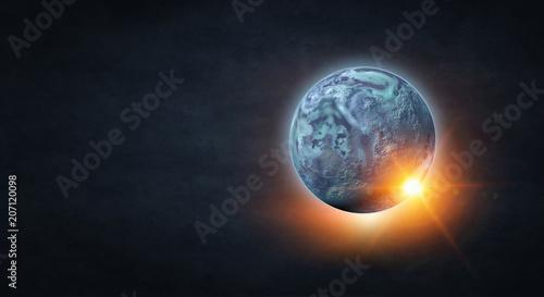 Pluto planet. Mixed media Fotobehang