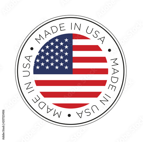Made in USA flag icon. Wall mural
