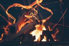 Bonfire. Firewood Burn In The ...