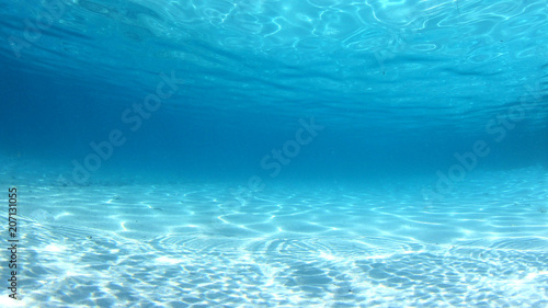 plakat Underwater clear blue sea