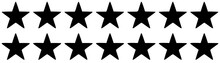 Two Rows Of Black Five-pointed Stars On A White Background