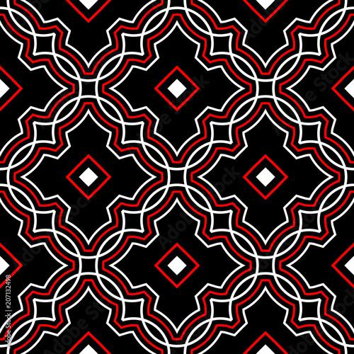 geometryczny-wzor-czarny-czerwony-bialy-tlo