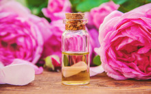 Essential Oil Of Rose On A Lig...