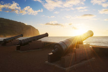 Sunset Through Cannons In Sain...