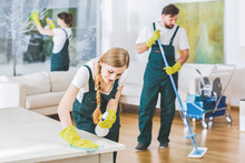 Cleaning Service Employees Wit...