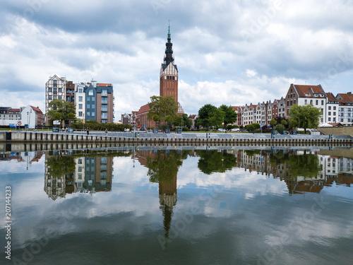 Foto auf AluDibond Stadt am Wasser Aerial: Old town of Elblag, Poland