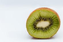 Sweet Ripe Kiwi Fruits On Whit...
