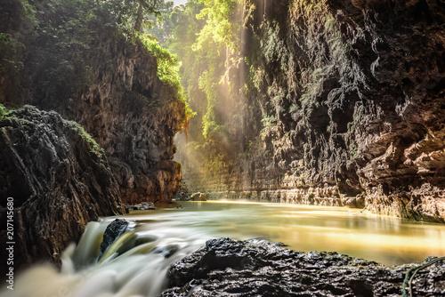 Obraz na płótnie Green Canyon, Pangandaran, Indonesia