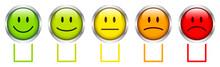 5 Silver Smileys Color Boxes Horizontal