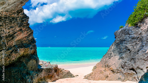 Bermuda Beach Cove Canvas Print
