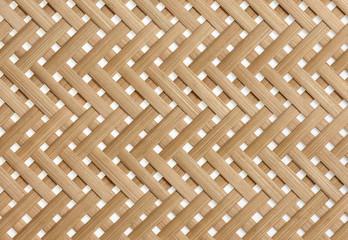 Tkane paski bambusowe wzór z bliska. Wickerwork bambusowy tekstury tło.