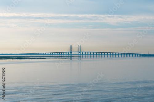 Photo  Storstrømsbroen bridge during sunrise