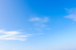 Summer blue sky and white clouds in sunny day for nature background.