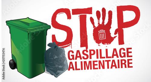 Fototapeta gaspillage alimentaire