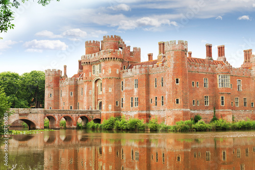 Brick Herstmonceux castle in England East Sussex of 15th century Wallpaper Mural