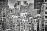 Black and white picture of the New York cityscape, USA. - 207156281