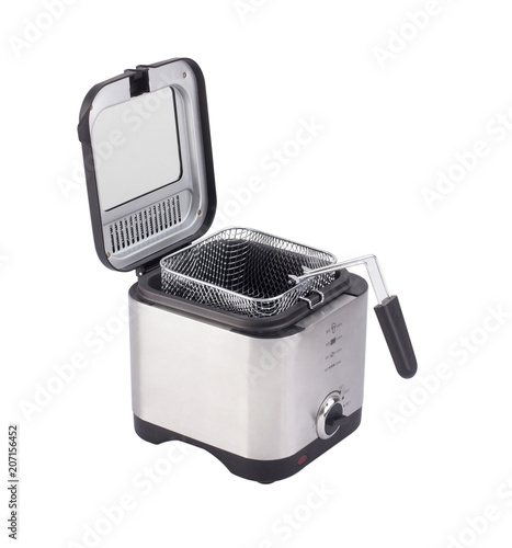 Fotografía  French fry or deep fryer machine isolated on white